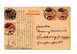Carte Postale 2 X 7 1/2 Germinia + Timbre Cachet Weimar - Storia Postale