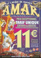 BELLE AFFICHE CIRQUE AMAR LE CIRQUE DE FRANCE ELEPHANT TIGRE PANTHERE CLOWN CHEVAL FORMAT 21 CM SUR 30 CM - Posters