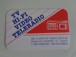 TV HI-FI Video Telerádio Almada Portugal Portuguese Pocket Calendar 2000 - Small : 1991-00