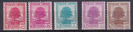 Grand Liban 1937 Cèdre Du Liban 1940  N°150-151-167-168-169 Neuf*charnière - Neufs