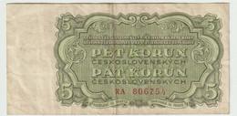 Czechoslovakia 5 Korun 1961 Banknote *mp210320 - Czechoslovakia
