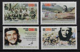 CUBA 2007. CHE. ANIVERSARIO DE SU MUERTE. MNH. EDIFIL 5127/30 - Nuevos