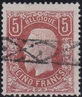 Belgie  .  OBP  37  Rolstempel  (2 Scans)     .   O   .   Gebruikt   .   / .   Oblitéré - 1869-1883 Leopold II