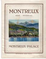 SUISSE-MONTREUX-PALACE DEPLIANT VUE GENERALE - Toeristische Brochures