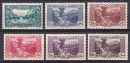 Grand Liban 1940 Paysages  N°170-171-172-173-174-175 Neuf*charnière - Neufs