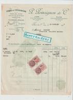 V P : Orne Flers- Caen  , P. Poinsignon  1937, Fers Et Bois , Charbon , Conches , Bayeux - Unclassified