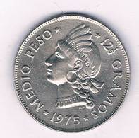 HALF PESO 1975  DOMINICAANSE REPUBLIEK /3180/ - Dominicana