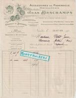 V P : Nantes , Jean Deschamps, Pour Pharmacie , Adréssé à Messei ,orne , Fabrique De Bandages , 1923 - Unclassified
