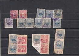 Japon 1913 1919 : 20 Timbres Dont 3 Fragments Voir Dentelure Oblitération - Used Stamps