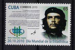 CUBA 2010. CHE. DÍA MUNDIAL DE LA ESTADÍSTICA. EDIFIL 5618 - Unused Stamps