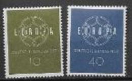 Allemagne 1959 Neufs ** N°193/194 Europa - 1959