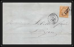 0923 Bourgogne Cote-d'Or Napoleon N°21 Gc 1307 Dijon 24/4/1863 LSC Lettre Cover France - 1849-1876: Classic Period