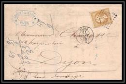 0924 Bourgogne Cote-d'Or Napoleon N°21 Gc 1307 Dijon 24/1/1865 Belle Facture A En Tete LAC Lettre Cover France - 1849-1876: Classic Period
