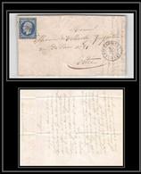 1212 Bretagne Ille-et-Vilaine - Napoleon N°14 T1 TB Pc 781 Châteaugiron Pour Vitre 4/12/1855 LAC Lettre Cover France - 1849-1876: Periodo Classico