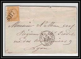 1471 Rhone Cérès N°59 GC 6317 Lyon BROTTEAUX Pour Lyon 27/6/1873 LSC Lettre Cover France - 1849-1876: Periodo Classico