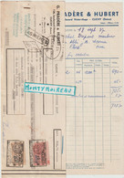 V P : Clichy , Seine, G. Pradère Et Hubert Faience, Carrelage , Pour Chantier à Flers , Orne 1937, Timbre - Unclassified