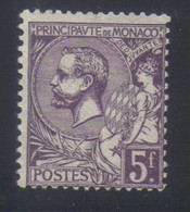 Monaco Prince Albert 1er  5 F. Violet  N° 46* Neuf Avec Trace De Charnière - Nuovi