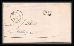 2242 Gard Marque Postale Sauve Port Payé Comte De Galadon Faire-part De Mariage 1845 LAC Lettre Cover France - 1801-1848: Precursores XIX