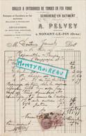 V P : Prés Argentan : NONANT Le  PIN : A. Pelvey , Grilles Et Entourages De Tombes En Fer Forgé , Timbre,1936 - Unclassified