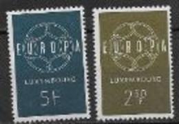 Luxembourg 1959 Neufs ** N°567/568 Europa - 1959