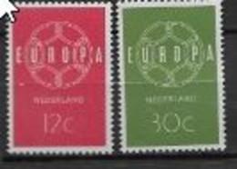 Pays Bas 1959 Neufs ** N°708/709 Europa - 1959