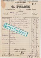 V P : Prés Argentan : EXMES 1937 , G. FERRIC , Quincaillerie - Unclassified