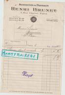 V P : Paris , Accesoires De Pharmacie H. Brunet ,1920 , St Ouen - Unclassified