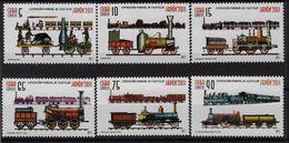 """CUBA 2011. TRENES. TRAIN. EXPOSICIÓN DE FILATELIA """"JAPÓN 2011"""". EDIFIL 5655/60 - Unused Stamps"""