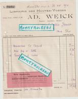 V P : Librairie Des Hautes Voges  AD  Weick  , SAINT DIE 1921  , Nancy ,pour   Orne , Exmes - Unclassified