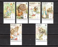 SALOMON  N° 1216 à 1221      NEUFS SANS CHARNIERE  COTE 7.50€     CONTES ECRIVAIN ANIMAUX - Solomon Islands (1978-...)