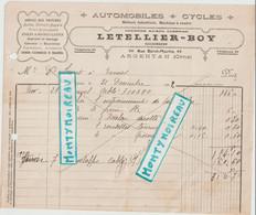 V P : Orne  ARGENTAN ; 1922 , Automobiles - Cycles , Garage Letellier -Boy  , Exmes - Unclassified