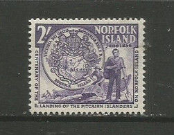 Norfolk Island  - 1956  Pitcairners Landing 2s MNH **   SG 20  Sc 20 - Norfolk Island