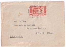 NOUVELLES-HEBRIDES - 1953 - ENVELOPPE De PORT VILA => LYON - Storia Postale