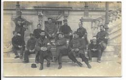 17-ROYAN-CARTE PHOTO- Hôpital Militaire Du Casino, Groupe D'Infirmiers, Blessés...18e Régiment... 1914  Animé - Royan