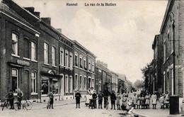 Hannut La Rue De La Station Animation Vélos édit Flamand Godfrin - Hannut