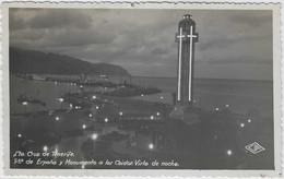 SP86 - Sta. Cruz De Tenerife - Pza De Espana Y Monumento A Lor Caidor -Vista De Noche - Tenerife