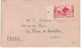 NOUVELLES-HEBRIDES - 1950/55 - ENVELOPPE De VATE => LYON - Cartas