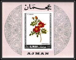 Ajman - 4508/ Bloc N°110 B Roses Flowers Fleurs Neuf ** MNH Non Dentelé Imperf - Rosas