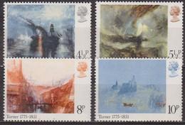 Art, Peinture - GRANDE BRETAGNE - Tableaux De Turner - N° 747 à  750 ** - 1975 - Ungebraucht