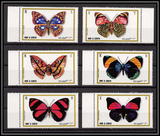 0138/ Umm Al Qiwain ** MNH Michel N°623/628 A Papillons (butterflies) - Umm Al-Qaiwain