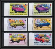Ajman - 2500a/ N° 1169/1174 A Voiture (Cars) Sports Cars ** MNH Citroen - Porsche - Toyota - Jaguar - Alfa - Ajman