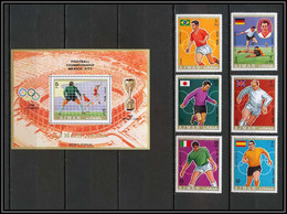 Ajman - 2624b/ N° 525/530 A World Football Cup 1970 Mexico Soccer ** MNH Charlton Beckenbauer Anastasi Garrincha - Ajman
