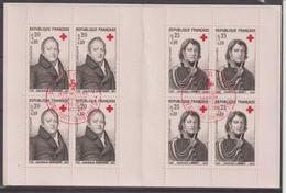 France Carnet Croix Rouge 1964 Oblitération 1er Jour - Red Cross