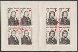 France Carnet Croix Rouge 1964 Oblitération 1er Jour - Cruz Roja