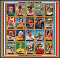 Ajman - 2555a/ N°1351/1370 A Velo Cycling Cyclisme Tour De France ** MNH Baldini Riviere Poulidor Merckx Gimenez - Ajman