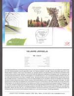 100th Of Järvselja Forest Protection Area Estonia 2021  Sheet Presentation Card (ger) Mi BL53 - Trees