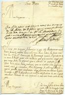 LAS 1673 Supérieure Du Couvent De Ste-Ursule, Pernes + Réponse De L'Evêque De Carpentras Gaspard II De Lascaris. - Manuscripts