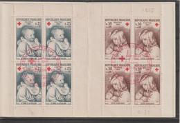 France Carnet Croix Rouge 1965 Oblitération 1er Jour - Red Cross