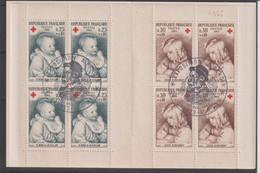 France Carnet Croix Rouge 1965 Oblitération Expo Renoir - Red Cross