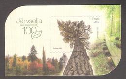 100th Of Järvselja Forest Protection Area Estonia 2021 MNH Sheet  Mi BL53 - Trees